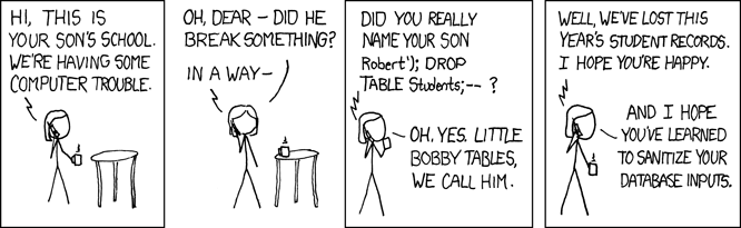 Exploits of a mom von xkcd